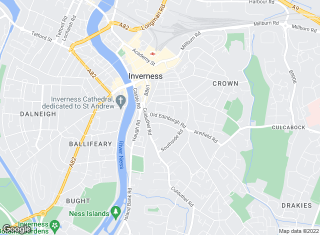 Map for CKD Galbraith, Inverness