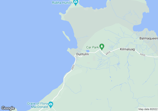 Map for Duntulm Cottages, Trotternish, Isle Of Skye, IV51