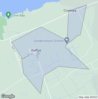 Map of property in Duffus