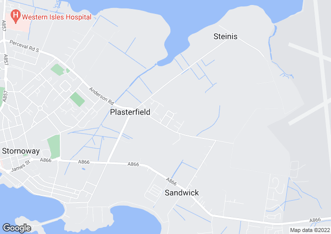 Map for Plasterfield, Stornoway, Isle Of Lewis