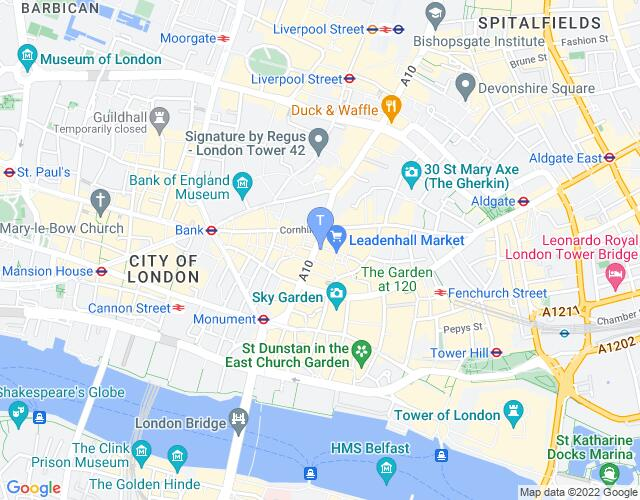 Location map for London Theatre Workshop
