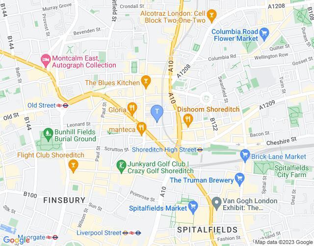 Location map for Amnesty International UK