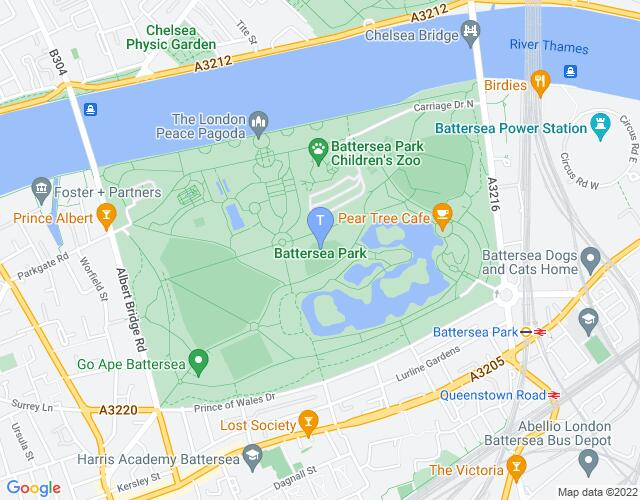 Location map for Wandsworth Arts Fringe 2019