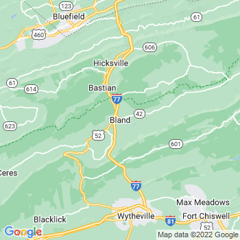 Bland in Virginia(VA)- map, population, zip codes, coutnies, area codes, time zones, households, income, news, weather, metro areas, local time at localistica.com
