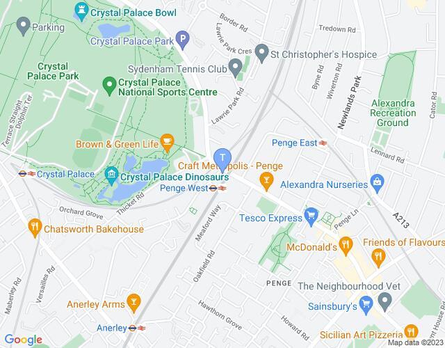 Location map for Bridge House Theatre