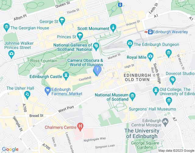 Location map for Edinburgh International Festival 2018