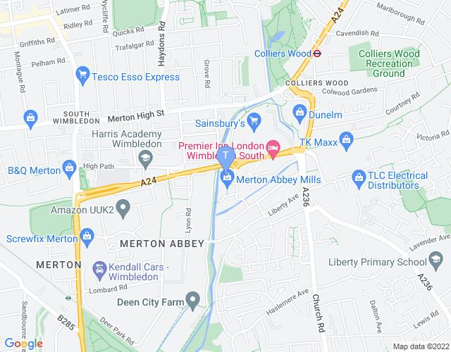 Location map for Colour House Theatre