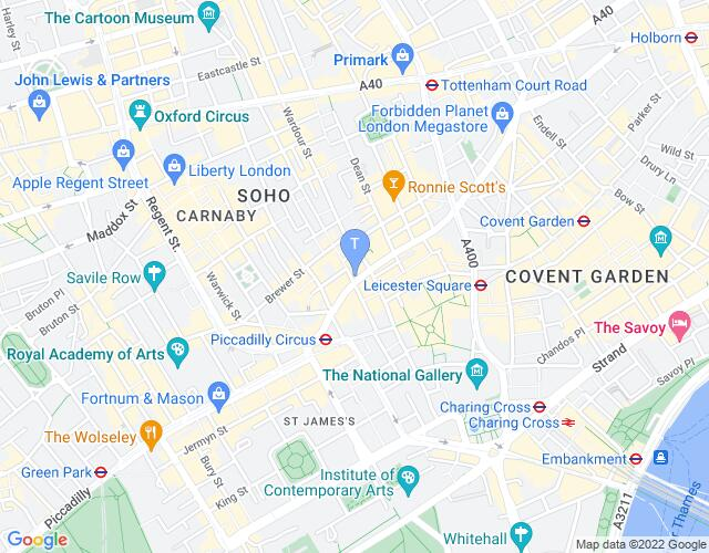 Location map for Gielgud Theatre
