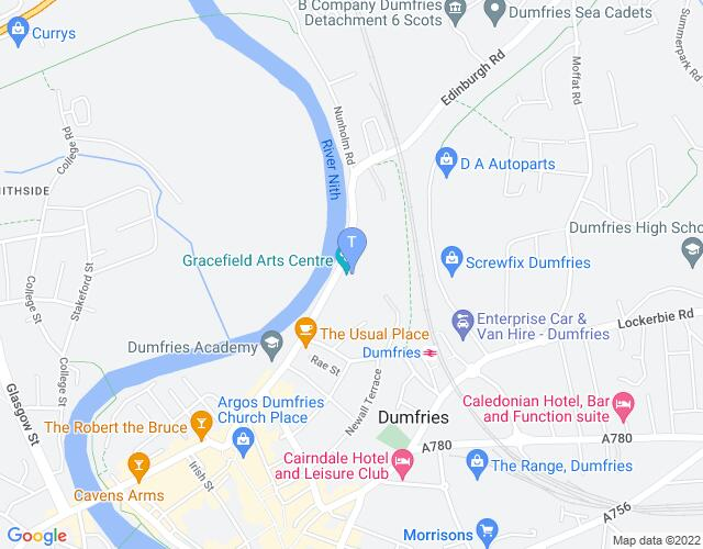 Location map for Dumfries & Galloway Arts Festival 2019