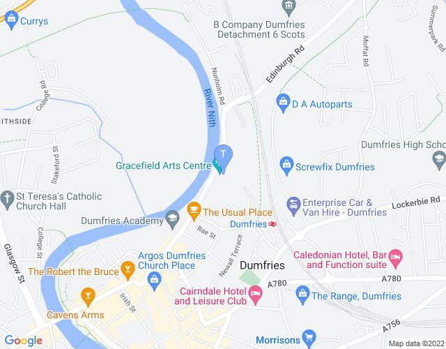 Location map for Dumfries & Galloway Arts Festival 2018