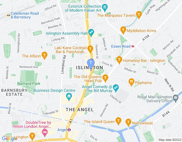 Location map for King's Head Theatre