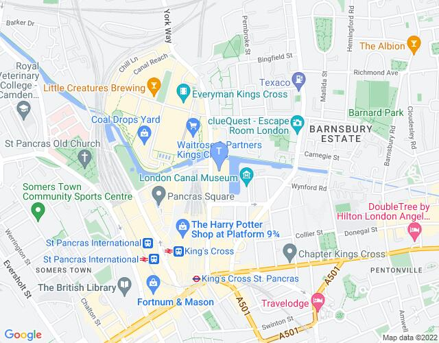 Location map for Kings Place