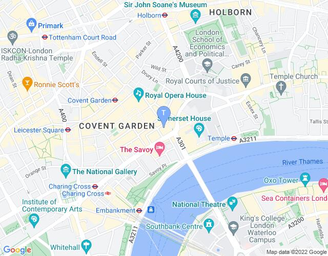 Location map for Lyceum Theatre