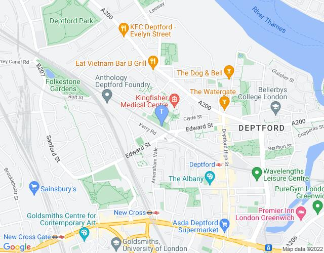Location map for Matchstick Piehouse