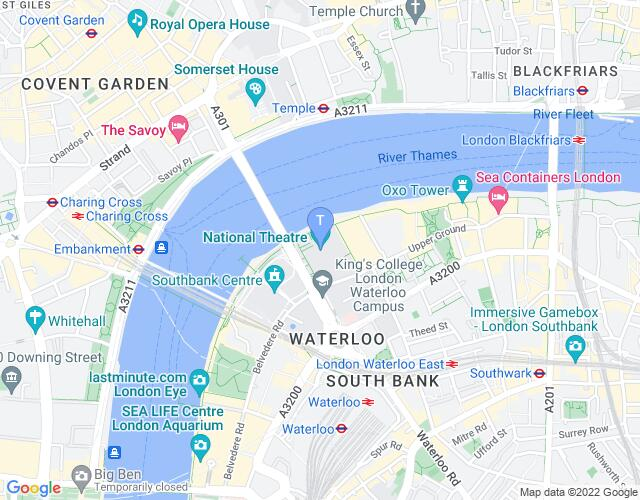 Location map for National Theatre
