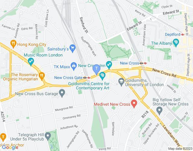 Location map for Deptford International Heritage Festival