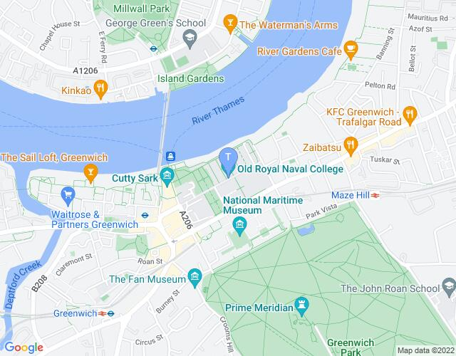 Location map for Greenwich & Docklands International Festival 2020