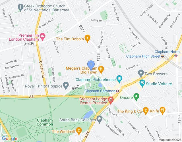 Location map for Omnibus Theatre