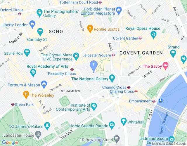Location map for Harold Pinter Theatre