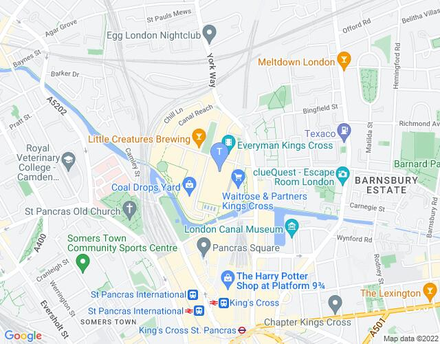 Location map for Platform Theatre
