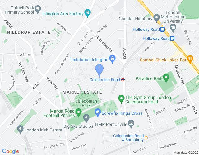 Location map for Pleasance - Islington