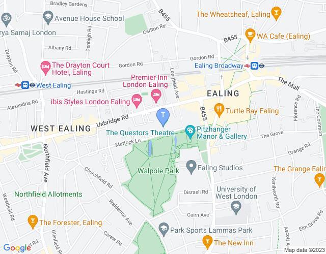 Location map for Questors