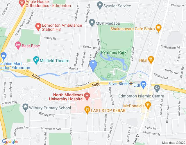 Location map for Millfield Theatre