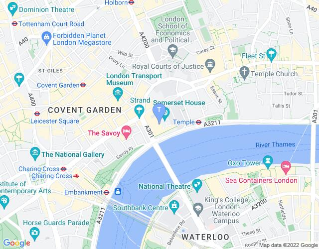 Location map for London International Mime Festival 2018