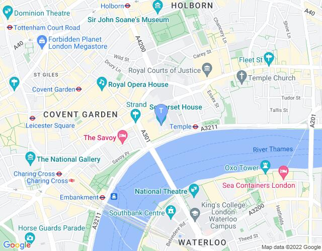 Location map for London International Mime Festival 2020