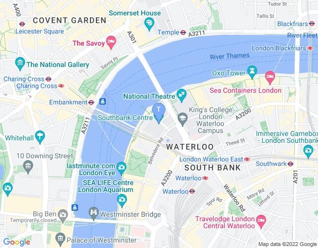 Location map for South Bank Centre
