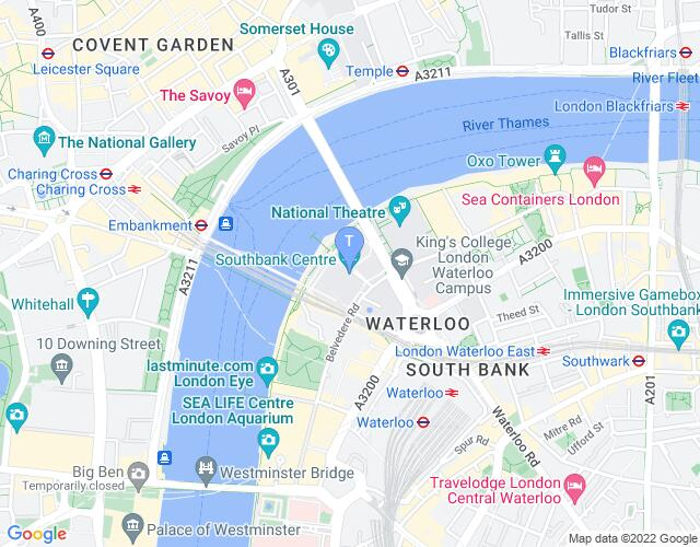 Location map for Southbank Centre