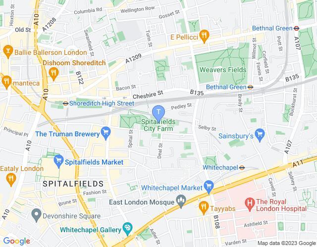 Location map for Spitalfields City Farm