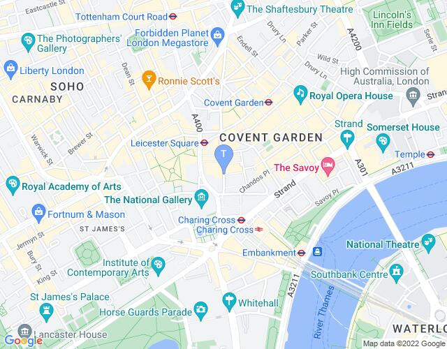 Location map for Duke of York's Theatre