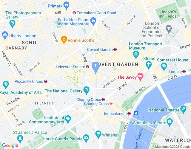Location map for London Coliseum
