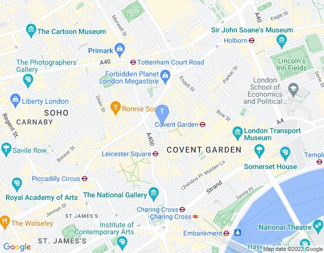 Location map for St Martin's Theatre