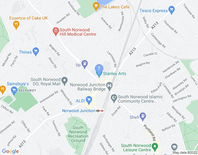 Location map for Stanley Halls