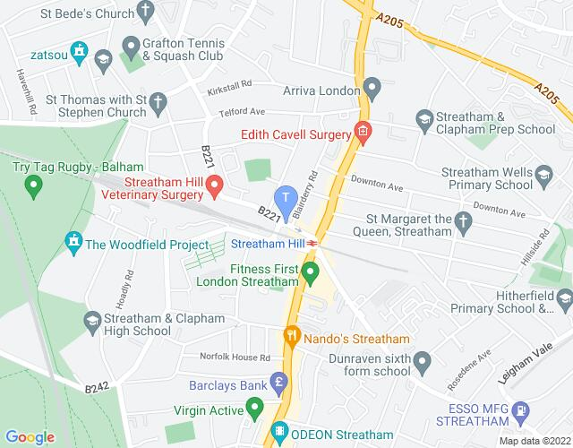 Location map for Streatham Space Project