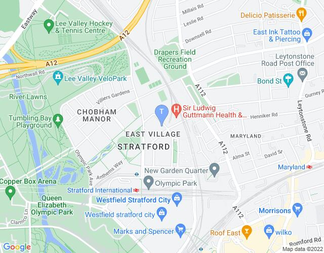 Location map for Stratford Circus Arts Centre