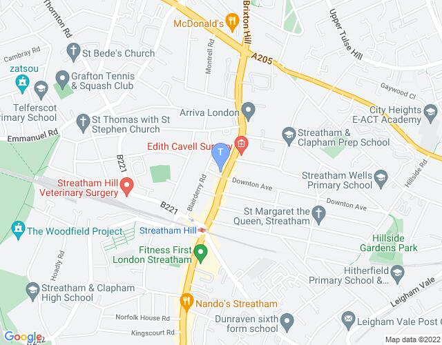 Location map for Streatham Hill Theatre