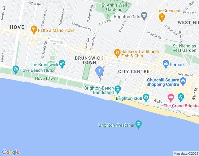 Location map for Brighton Horrorfest 2018