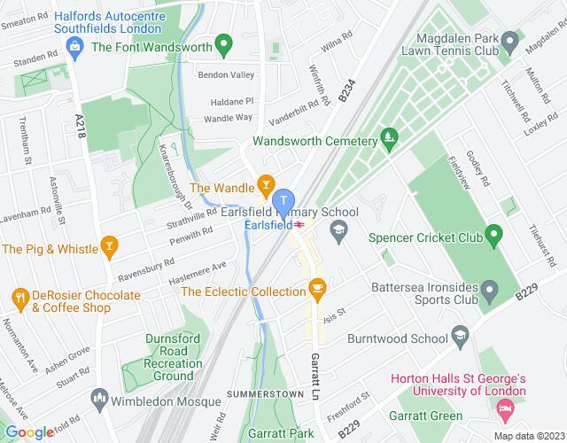 Location map for Tara Theatre