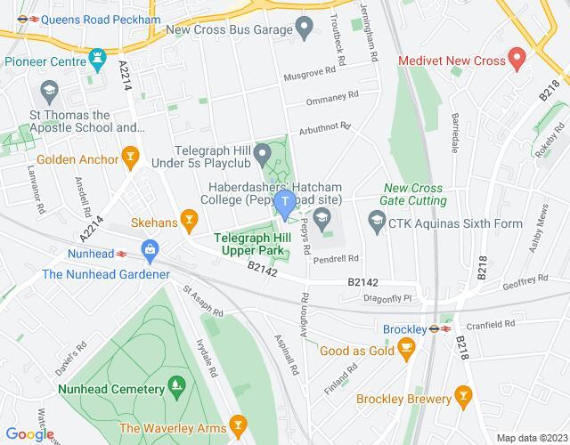 Location map for Telegraph Hill Festival