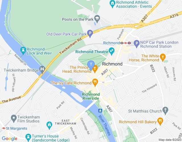 Location map for Richmond Theatre