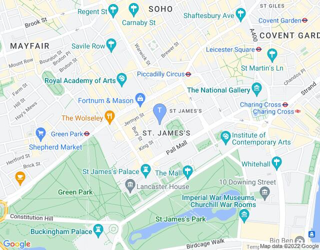 Location map for The London Library