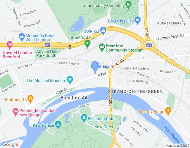 Location map for The London Museum of Water and Steam