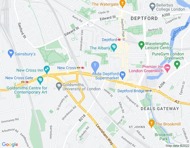 Location map for The London Theatre