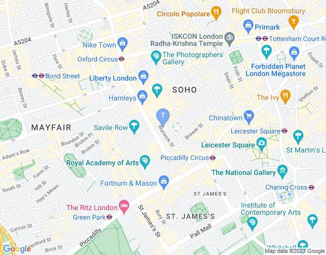 Location map for The Sanctum Hotel Cabaret Venue