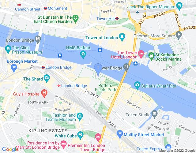 Location map for The Scoop at More London
