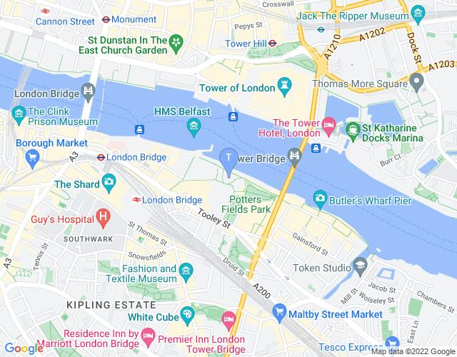 Location map for The Scoop