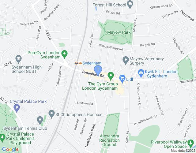 Location map for The Sydenham Centre